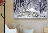 Cheetah Print Wall Murals 2019 White Tiger Landscape Print Canvas Painting Home Decor Canvas