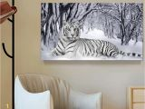 Cheetah Print Wall Murals 2019 White Tiger Landscape Print Canvas Painting Home Decor Canvas