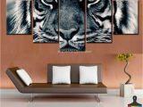 Cheetah Print Wall Murals 5 Piece Home Decor Canvas Print Painting Wild Animal Wall Art Tiger