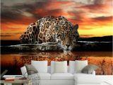 Cheetah Print Wall Murals Custom Wallpaper 3d Stereoscopic Mural Wallpaper Animal