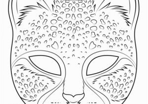 Cheetah Running Coloring Pages Cheetah Mask Coloring Page From Masks Category Select From