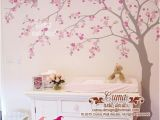 Cherry Blossom Mural On Walls Cherry Blossom Wall Decal Wall Decals Flower Vinyl Wall