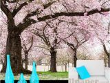 Cherry Blossom Mural On Walls Custom Romance Pink Flower Tree 3d Wall Papers Cherry Blossom Wallpaper Murals for Tv Backdrop Wedding Room Papel De Parede Wallpaper A Desk Wallpaper