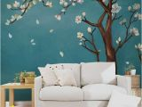 Cherry Blossom Mural On Walls Hand Painted E Magnolia Tree Flowers Tree