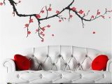 Cherry Blossom Mural On Walls Pretty Autumnal Branch Wall Decals