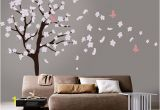 Cherry Blossom Tree Wall Mural Tree Wall Decal White Cherry Blossom Wall Decal Cherry