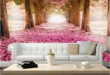 Cherry Blossom Tree Wall Mural Trees Removable Wallpaper Pink Cherry Blossom Trees