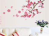 Cherry Blossom Wall Mural Stencil Amazon Koolee Peach Blossom Flower Wall Sticker