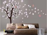 Cherry Blossom Wall Mural Stencil Tree Wall Decal White Cherry Blossom Wall Decal Cherry
