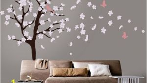 Cherry Blossom Wall Mural Stencil Tree Wall Decal White Cherry Blossom Wall Decal Cherry