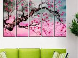 Cherry Tree Wall Mural Buy Cherry Blossom Tree Wall Painting Framed On Wood