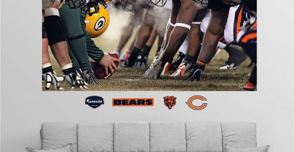 Chicago Bears Murals Fathead Chicago Green Bay Line Of Scrimmage Wall Graphic In 2019