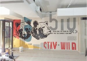 Chicago Bears Wall Mural 2nd Half Of the Mural I Just Finished Wework Berkeley Mural Bear