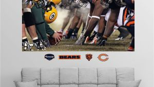 Chicago Bears Wall Mural Fathead Chicago Green Bay Line Of Scrimmage Wall Graphic In 2019