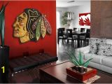 Chicago Blackhawks Wall Mural Chicago Blackhawks Distressed Wood Sign