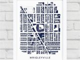 Chicago Cubs Wall Murals Wrigleyville Chicago Print Chicago Cubs Gift