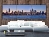Chicago Skyline Wall Mural Chicago Skyline On Canvas Wall Art Chicago Print Chicago Art Chicago Chicago Canvas Panoramic Chicago Sunset Poster