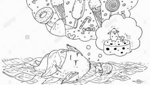 Child Sleeping Coloring Page Coloring Page for Children Little Monster and His Friend Mouse