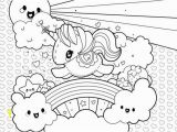 Childrens Coloring Pages Printable Unicorn Cute Unicorn Clouds and Rainbow Coloring Page