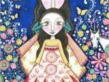 Childrens Painted Wall Murals Childrens Wall Art Print Twins Sisters Art Girls T Inspiraional Art Unicorn Rabbit Mixed Media Painting Childrens Wall Decor Trust