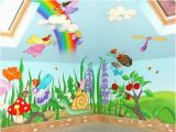 Childrens Painted Wall Murals Fairy Mural Snuffaloo S Room Pinterest