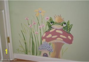 Childrens Painted Wall Murals Fairy Tale Mural the Frog Prince Detail Hand Painted