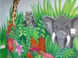 Childrens Painted Wall Murals Jungle Scene and More Murals to Ideas for Painting