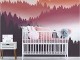 Childrens Wall Mural Decals Abstract Air Balloon at Sunset Wall Mural
