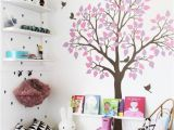 Childrens Wall Mural Stickers Nursery Tree Wall Sticker with Birds Wall Art Decoration for Kids