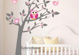 Childrens Wall Mural Stickers Owl Vinyl Tree Wall Sticker Decals Mural Wallpaper Children Kids