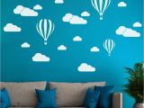 Childrens Wall Murals Uk Diy Clouds Balloon Wall Decals Children S Room Home Decoration