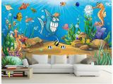 Childrens Wall Murals Wallpaper Us $12 21 Off 3d Wall Murals Wallpaper Custom Picture Mural Beautiful Cartoon Mural Submarine World Children Room Tv Backdrop Wall Home Decor In