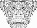 Chimp Coloring Pages Chimpanzee Coloring Page