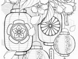 Chinese Lantern Coloring Page Icolor by Lanterns and Flowers I Wish I Can Almost Smell these