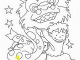 Chinese New Year Coloring Pages 2014 Chinese New Year Lion Dance Coloring Page