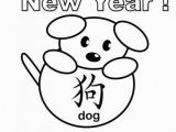 Chinese New Year Coloring Pages 2014 so Cute Dog Made From Circle and Ovals Coloring Page for Year Of