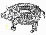 Chinese New Year Coloring Pages Chinese New Year 2019 Pig Zentangle Coloring Page 2019