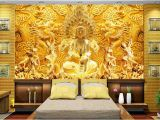 Chinese Wall Murals Wallpaper 3d Wallpaper Custom 3d Wall Murals Wallpaper Mural Golden Goddess Mercy Chinese Relief 3d Living Room Wall Decor Y Wallpaper Y