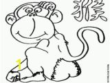 Chinese Zodiac Coloring Pages Printable Chinese astrology and the Monkey