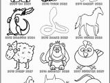 Chinese Zodiac Coloring Pages Printable Chinese Zodiac Coloring Pages Coloring Home