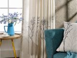 Chinoiserie Wall Murals Autor Greengirl100 Tumblr Tree Design Linen Printed Curtains for Living Room