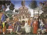 Christian Mural Paintings Temptations Of Christ Botticelli