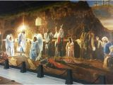 Christian Mural Paintings the Resurrection Mural Shows Biblical Characters Celebrating