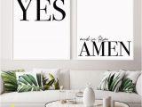 Christian themed Wall Murals Set Of 2 God Promises Christian Art Print Housewarming T