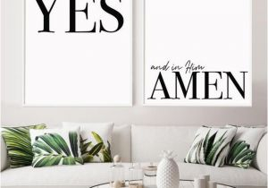 Christian themed Wall Murals Set Of 2 God Promises Christian Art Print Housewarming T