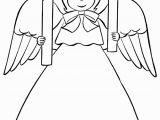 Christmas Angel ornaments Coloring Pages Printable Christmas Angel Coloring Pages 012