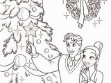 Christmas Coloring Pages Disney Princess Princess and the Frog Coloring Page