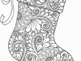 Christmas Coloring Pages for Adults Xmas Stocking