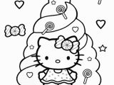 Christmas Coloring Pages Hello Kitty Hello Kitty Coloring Pages Candy with Images