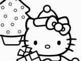 Christmas Coloring Pages Hello Kitty Printable Dibujo De Hello Kitty De Navidad Para Colorear with Images